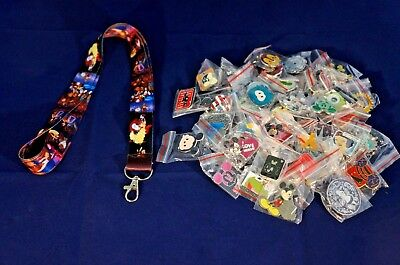 Disney World Pin Trading Lot Lanyard Starter Beauty & the Beast Belle & 25 Pins