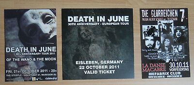 Death In June Eisleben 2011 Valid Ticket Of The Wand & The Moon Flyer Current 93