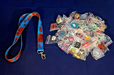 Disney World Pin Trading Lot Lanyard Starter Star Wars Chewy Chewbacca & 25 Pins