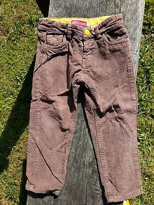 Little Bird Mothercare Retro Soft Brown Trousers 2-3yr Great condition