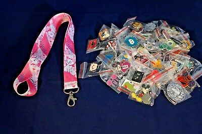 Disney World 25 Pin Trading Lot Lanyard Starter Set Pink Marie Cat Aristocats