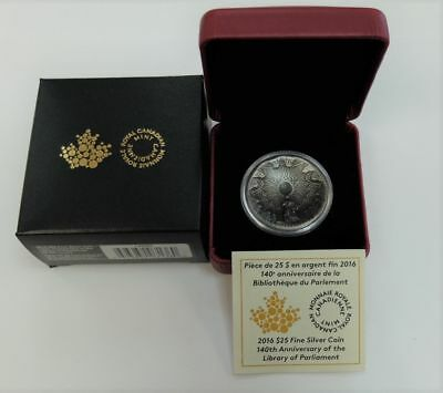 2016 Concave $25 Fine Silver - 140th Anniversary of the LIBRARY of PARLIAMENT