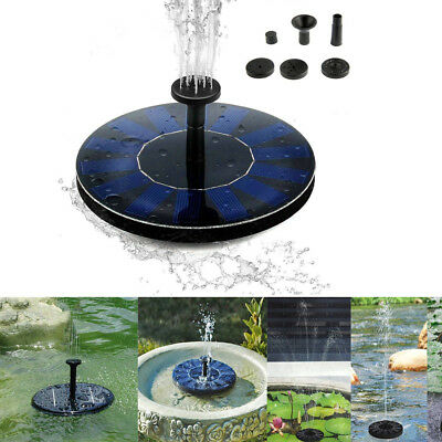 Outdoor Solar Powered Fountain Bird Bath Water Floating Pump Garden Pond Patio