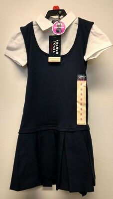 French Toast Official Schoolwear Navy/White 2fer GIRLS Dress- Choose Size