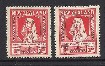 NEW ZEALAND  1929-30  Health stamps  SG544/45  MM