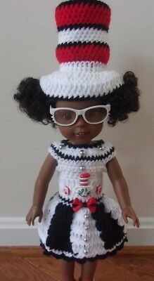 "HANDMADE CROCHET CLOTHING & ACCESSORY FOR 14.5"" AG Wellie Wisher DOLLS"