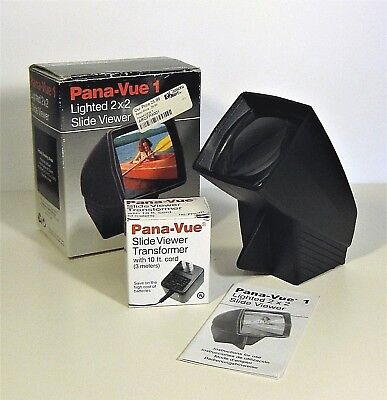 Pana-Vue 1 Lighted 2x2 Slide Viewer w/Transformer -Great Working Condition!