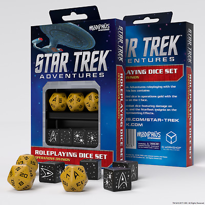 Star Trek Adventures RPG Roleplaying Dice Set - Operations Division Yellow