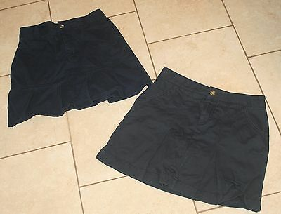 Girls Navy Blue Uniform Skirts - lot of 2 FRENCH TOAST OLD NAVY - Size 12