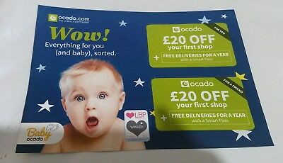 Ocado £20 OFF Food shopping Home Cooking Food Gift Voucher Code Discount Card