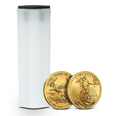 Tube of 50 - 2018 1/10 oz Gold American Eagle Coin $5 Gem BU - Mint Fresh Coins!