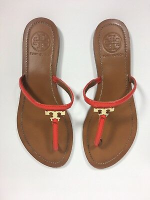 c4b7c4319b95 Tory Burch T Logo T Strap Poppy Thong Sandal Women s 7- only worn once