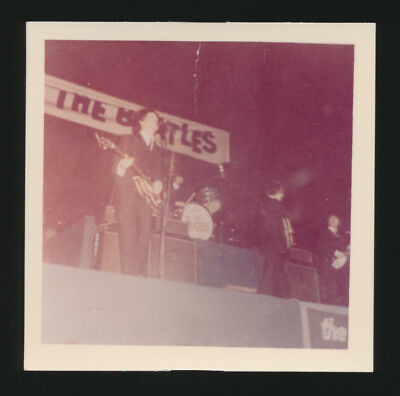 Beatles VINTAGE 1964 PRIVATE SNAPSHOT PHOTO OF THE BEATLES ON STAGE PITTSBURGH!