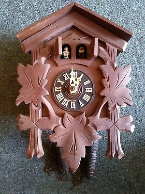 German Cuckoo Clock Mfg Co. for parts/repair West Germany Wood Vintage Musical