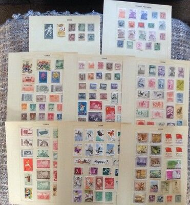 Lovely Collection Of Mint And Used Stamps On Album Sheets From China.-