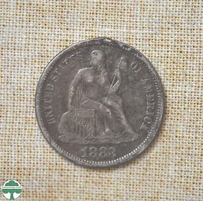1883 Seated Liberty Dime Love Token