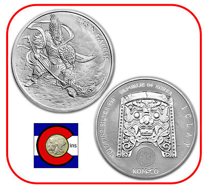 2017 South Korea ZI:SIN Gallus 1 oz 0.999 Silver Medal/Coin in plastic capsule