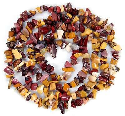 """4x6-6x11mm Yellow Red Mookatie Nugget Beads 35.5"""""""