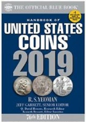 2019 Handbook of United States Coins, Blue Book, Soft Bound, Copyright 2018
