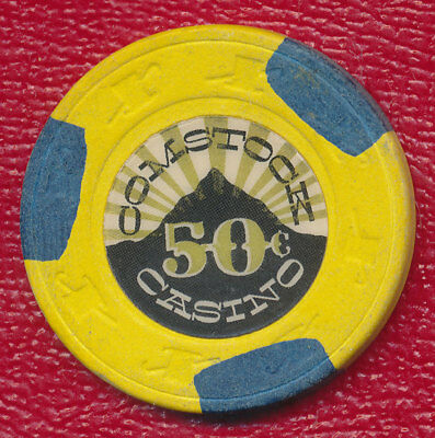 Comstock Casino 50 Cent Gaming Chip **very Lightly Played** Nice Chip!