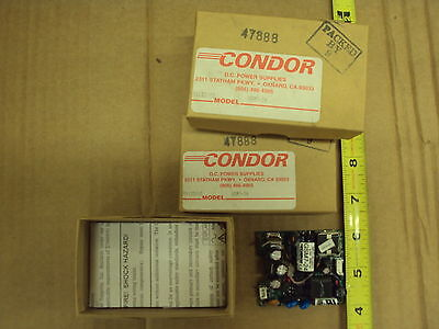 DC Power Supply 24VDC @ 0.3 amps;100-240vac input; Condor GSM7-24; lot of 4 each