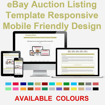 DARK KHAKI EBAY Auction Listing Template HTML Responsive Mobile - Mobile friendly ebay template