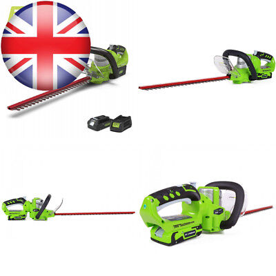 Greenworks Tools 2200107UA Rotating Head Cordless Hedge Trimmer with 2 Ah...