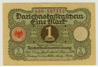 1920 Germany 1 Mark Banknote-UNC Condition- 18-227