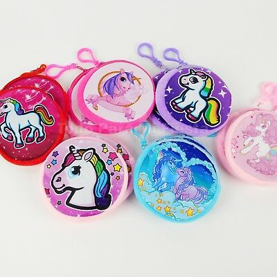 4 Coin Purse Butterfly Keychain Birthday Kids Party Favors Princess Girls Gift