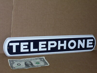 """TELEPHONE - Long Narrow..1/2"""" Thick x3"""" Tall x17"""" Long  - SIGN -Fits Most Places"""