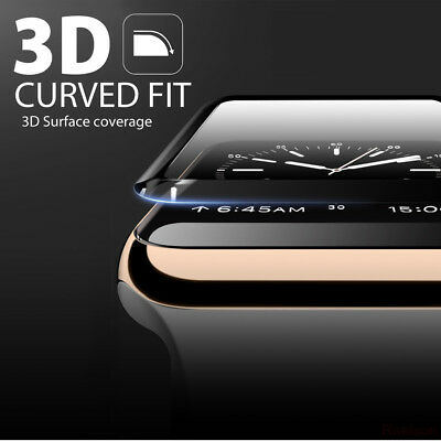 3D Full Cover Tempered Glass Screen Protector for Apple Watch iWatch 38mm / 42mm