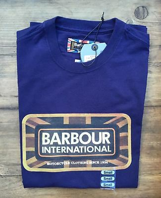 BRAND NEW-Barbour International Pride Tee Midnight Blue T-Shirt -S-MSRP $49