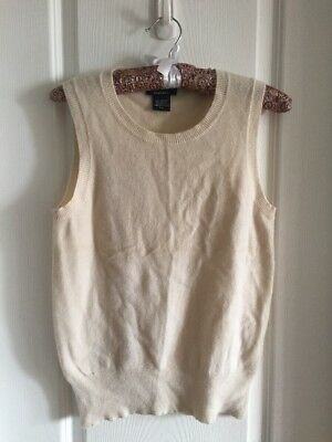 LORD & TAYLOR Women's 100% Cashmere Sweater Vest Size M