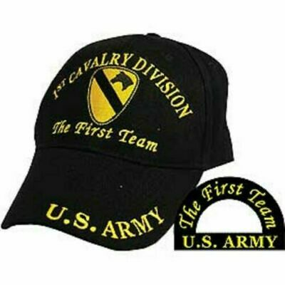 U.S. MILITARY ARMY 1st CAVALRY HAT EMBROIDERED MILITARY BALL CAP THE FIRST TEAM