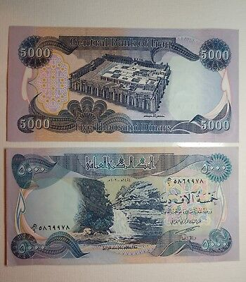 (1) 5000 Iraqi Dinar note  - Crisp lightly circulated clean no marks, tears,