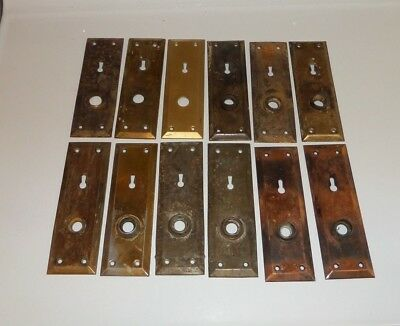 LOT of Antique, Vintage Door Hardware Parts:  Knobs, Face Plates, Locks