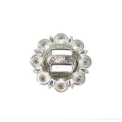 """Berry Slotted Concho 1.5"""" (38mm) Silver Plated"""