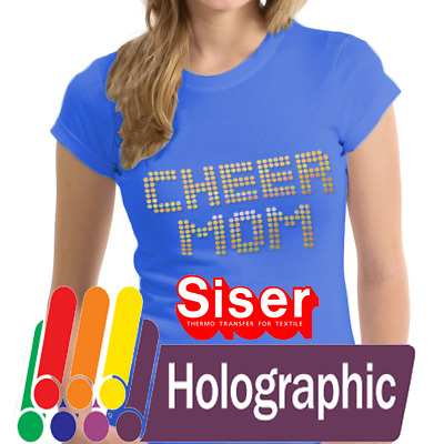 "Siser Holographic Heat Transfer Vinyl HTV for T-Shirts 20"" by the Yard Roll(s)"