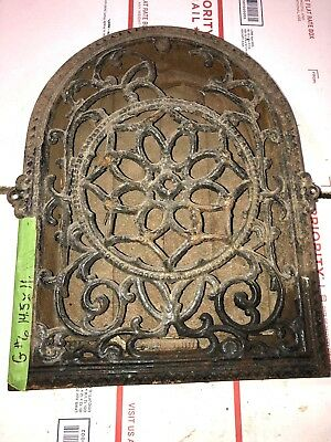 Cast Iron wall Floor Register Heat Grate antique vintage  louvered g6