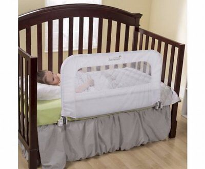 NEW 2 in 1 Convertible Baby Child Crib Safety Bedrail,Folds Down for Easy Access