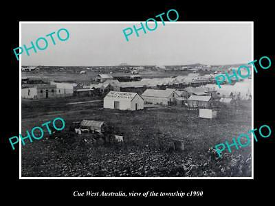 OLD LARGE HISTORIC PHOTO OF CUE WEST AUSTRALIA, VIEW OF THE TOWNSHIP c1900