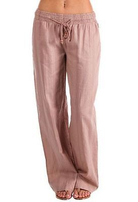 BILLABONG New Ladies Cotton Beach Pants Sand Size (12)