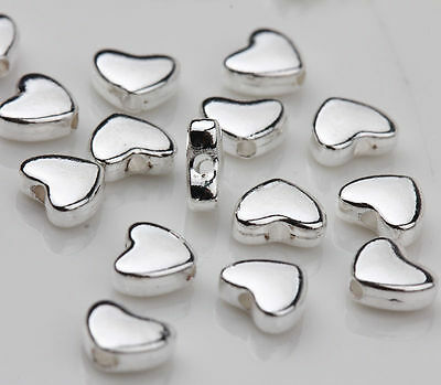 Wholesale 30 Tibetan Silver Heart Spacer Bead For Jewelry Making Craft DIY 5x6mm