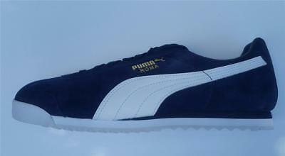 official photos 84045 23800 PUMA ROMA SUEDE mens trainer shoe retro original new 36543702 peacoat uk 6  - 12