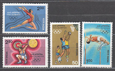 India - Correo Yvert 809/12 ** Mnh  Olimpiadas de los Angeles
