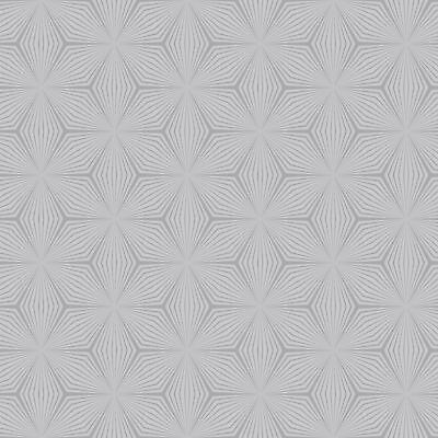 Geometric Star Wallpaper Rolls Silver / Grey - Holden Decor 12618 Metallic