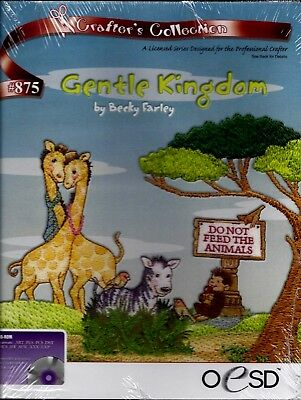 OESD MACHINE EMBROIDERY CD - GENTLE KINGDOM - multiformat - BRAND NEW