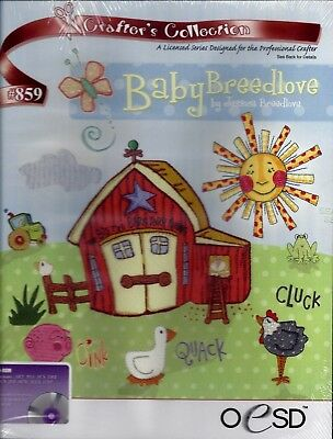 Oesd Multiformat Machine Embroidery Cd - Baby Breedlove - Brand New