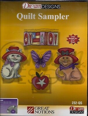 Great Notions Multiformat Machine Embroidery Cd - Quilt Sampler - Brand New