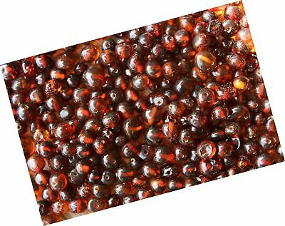50 Pcs Loose Cognac Baltic Amber Beads 4-6mm
